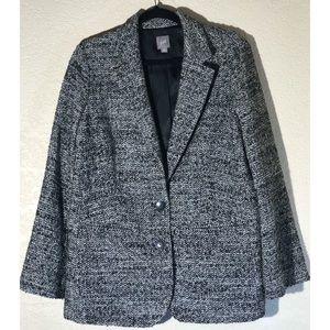 J Jill Gray/Silver Tweed Coat